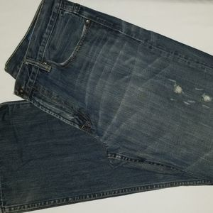 GAP 1969 Jeans 34 32 Loose Straight Destructed